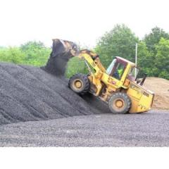 Crushed stone for road construction |