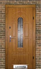Двери входные с МДФ накладкой