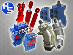Cylinders, control valves, hydraulic motors and