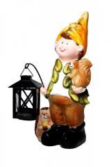 Декоративная уличная скульптура Осенний мальчик с