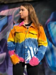Джинсовая куртка Хиппи