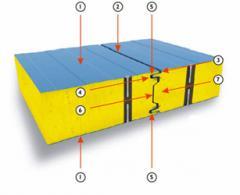 Сэндвич панели с наполнителем из минеральной ваты - для декоративно-защитной отделки и утепления внешних и внутренних стен и кровли строений ( от 60 до 200 мм ).