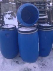 Barrels plastic second-hand. 200 litas.