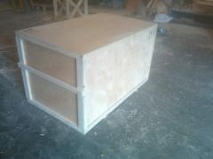 Production of plywood boxes