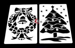 Трафареты новогодние для оформления окон и витрин