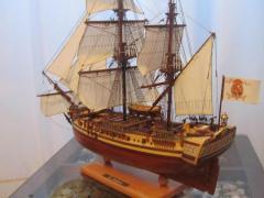 Макет парусного корабля. Авторская работа