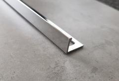 Хромированный Г образный профиль для плитки 12 мм