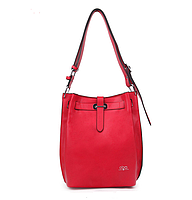 Красная кожаная сумка OBA в Киеве  Код 16049