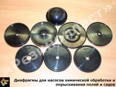 Diaphragms for pumps of chemical processing and