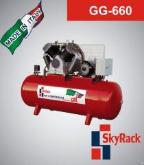 Компрессор поршневой с ременной передачей 500л 380В Skyrack GG 660