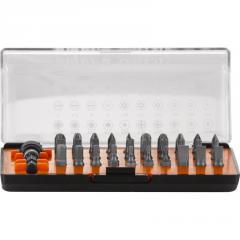 """Набор бит 1/4"""" SL;PH;PZ;TORX;HEX +магнитный держатель, пластиковая упаковка, 31 предмет OMT31S Ombra"""