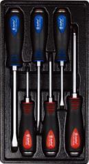 Набор ударных крестовых и шлицевых отверток , 6 предметов T32185 AmPro
