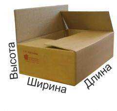 Box cardboard tare, corrugated cardboard