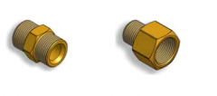 Reducers and fitting with an external and internal