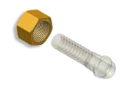 Brass nut for the union under a hose,