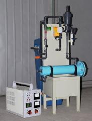 Block electrolytic water disinfection installation