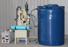 Block electrolytic water disinfection...