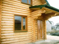 Houses of the manual cabin, log home
