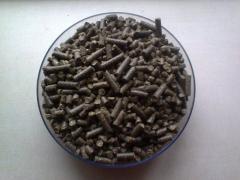 Pellets from sunflower pod