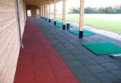 Rubber floor covering for a shooting range