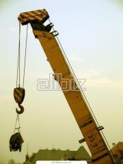 The crane is telescopic