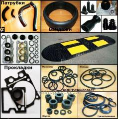 Rubber products RTI, shaped and not shaped,