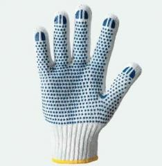 Gloves working x with PVC poin