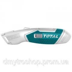 Нож монтажный TOTAL выдвижное лезвие 19x61мм. + 6