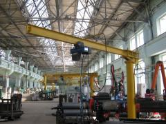 Rotary bracket cranes stationary