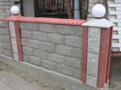 Крышки, парапеты для заборов. Крышки бетонные для