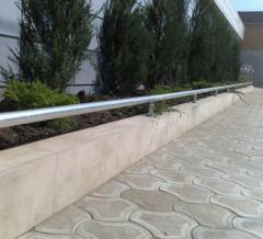 Handrail from a stainless steel the Crimea