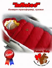 Children's envelope down-padded coat,