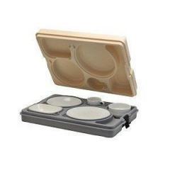 Термоподнос с замком и набором посуды (6