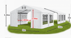 Trade tent 8x16 reinforced