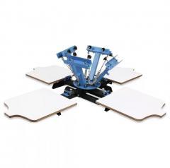 4x4 шеклотрафаретный станок под печать на коробках