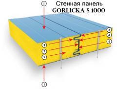 Сэндвич-панели стеновые, панели для зданий