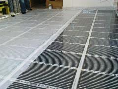 Infrared heating film of Teplonog. Heat-insulated