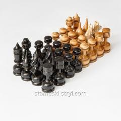 Набор деревянных шахматных фигур ручной...