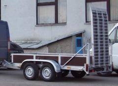 Semi-trailers for transportation of equipment |