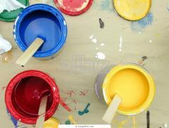 Paints oil, minium