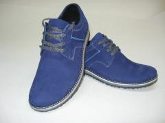 Shoes Comfort M-12 Model blue nubuck