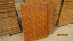 Pallets of wood bamboo 880х540х20 for paving
