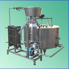 Equipment for milk processing, mini-plant of
