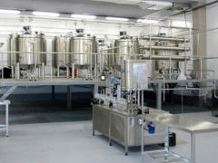The line of milk processing, the equipment for