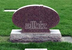 Monuments from granite, marble