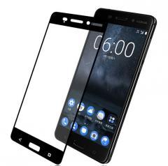 3D Full Glue защитное стекло для Nokia 6 Чёрное