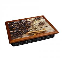 Поднос цветной 040552 кофе и корица