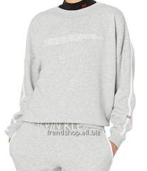 Серый лонгслив Calvin Klein USA оригинал свитшот
