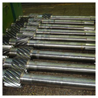 Pinion shafts are cylindrical