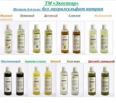 Шампуни для волос без лаурилсульфат натрия ТМ «Экостар»
